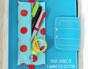 Banded planner supply case | Bible journaling pouch | pencil holder