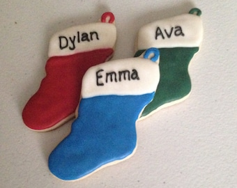 Personalized Stocking Sugar Cookies