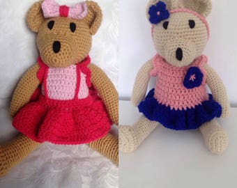 Crochet bear girl