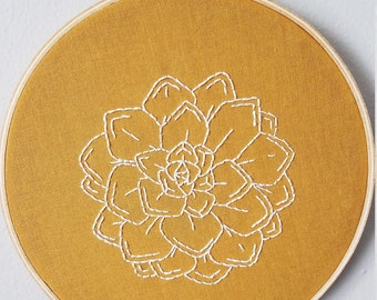 Succulent Embroidery Hoop Art
