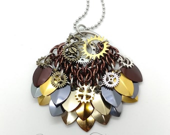 Steampunk Scalemaille Pendant