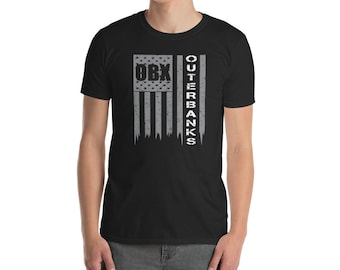 The Outer Banks Shirt / OBX Souvenir T-Shirt / Outer Banks NC / North Carolina / OBX Gift / American Flag