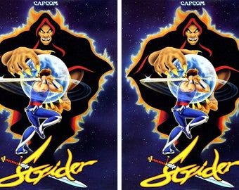 Strider Side Art Panels Cabinet Graphics Stickers Reproduction
