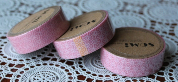 Scrapbook Supplies- 1 roll. Washi Tape. Pink Flowers - Little Laser Lab
