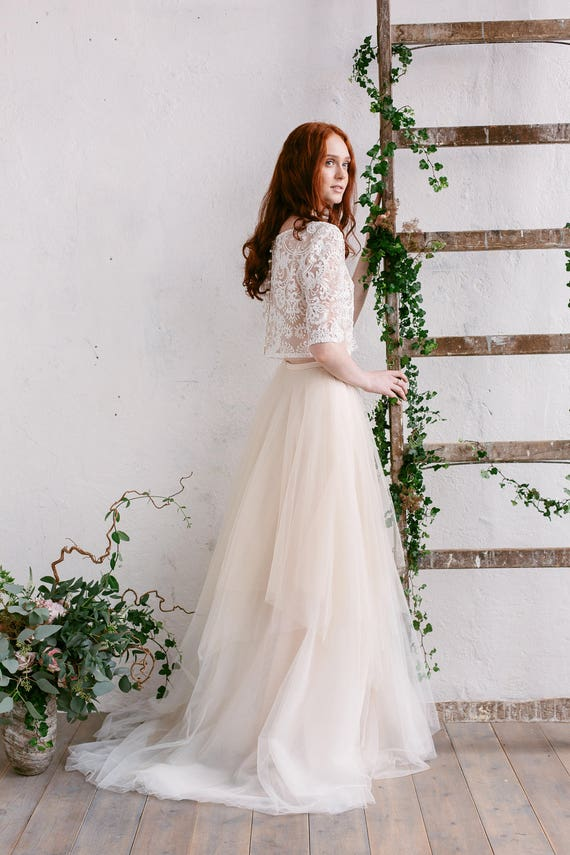 Gold and Champagne Wedding Dresses