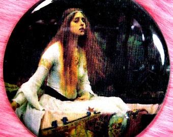 Lady of Shallot - Pocket Mirror - Victorian - Romantic - Pre Raphaelites - King Arthur - Medeival