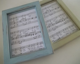 Chalk Painted Picture Frames ~ Set of 2 Painted Frames ~  5 x 7 Photo Frames ~ Coastal Decor ~  Annie Sloan ~