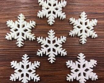 Snowflake embellishments 4pcs    AK24
