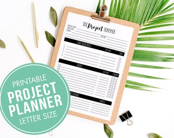 Project Planning Printable, Print Your Own Business Worksheets, Printable Planner