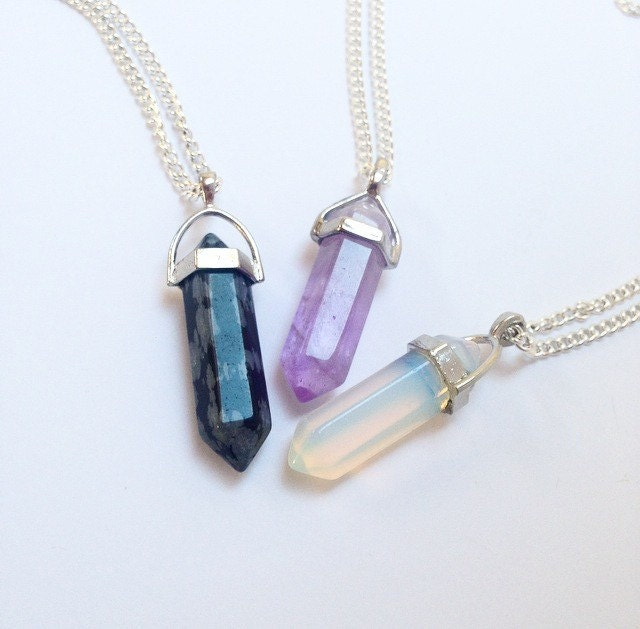 Crystal necklace crystal choker crystal quartz necklace on zoom aloadofball Images