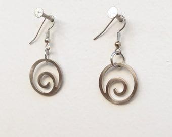 Forever Wave Earrings by Marsh Scott, stainless steel