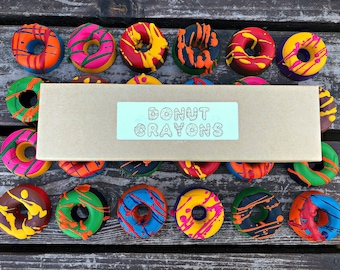 Donut Crayons - Donut Party Favors - Kids Gifts - Unique Gifts For Kids - Kids Birthday Gifts - Classroom Party Favors - Kids Party Favors