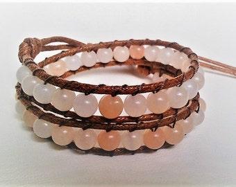 Natural Pink Aventurine Wrap Bracelet