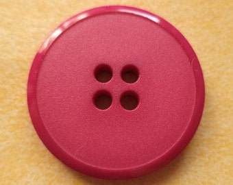 12 buttons pink 23mm (6507-) button