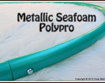 """METALLIC SEAFOAM Green Polypro - 3/4"""" Or 5/8"""" OD! Push-Button Collapsible for Travel. Free Sanding Option."""