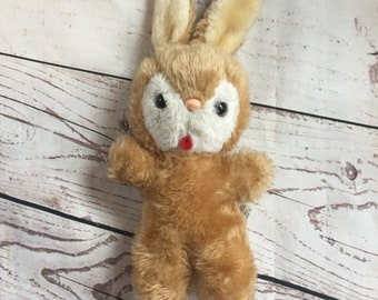 Vintage Commonwealth of PA Bunny Plush, Brown, Pennsylvania, Stuffed Animal, Children's Toy