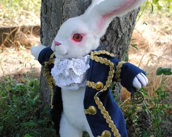 REAL SIZE!)White Rabbit from Alice in Wonderland