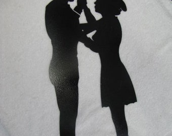 Cowgirl and Cowboy Dance 1 Silhouette Western Metal Wall Art