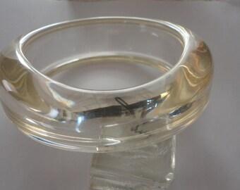 60s Clear Heavy Lucite Bracelet Free Form Vintage