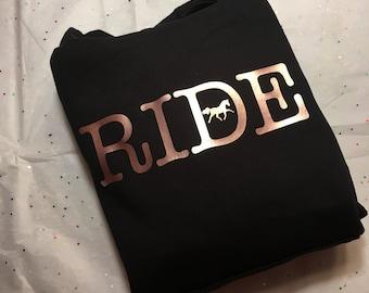 Equestrian hoodie 'Ride'