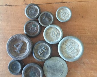 Vintage Scale Weights - Mismatched group - Ounces
