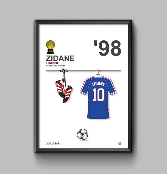 Zidane Ballon D'or Winner 1998