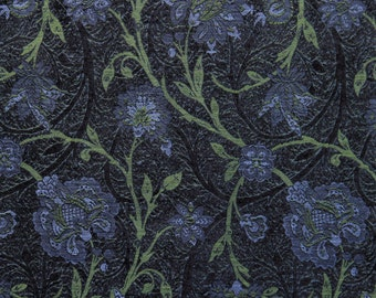 Blueberry Boston Vine Jacquard Woven Floral Upholstery Fabric