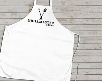 BBQ Apron, Grillmaster apron, Customized Barbecue Apron, Fathers day gift, Gifts for Him, Cute Apron, grilling apron, summer trends