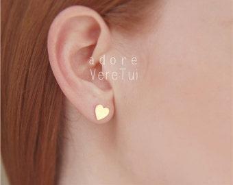 Simple Gold Heart Earrings