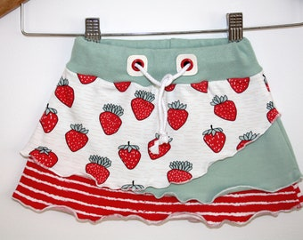 Summer Skirt - Strawberry Skirt - Organic Skirt -Lienchen