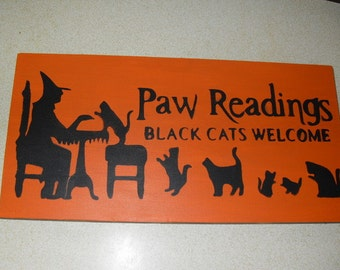 Paw Readings Sign