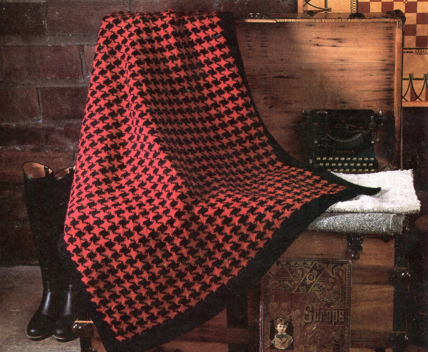 Gorgeous Houndstooth Knit Blanket Pattern