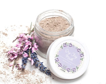 Dry Clay Facial Mask with Natural Clay - Recommended for Acne Prone Skin