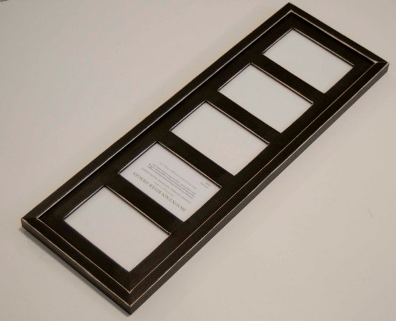 MULTI 5 Opening 4x6 distressed rustic pine collage picture frame ...