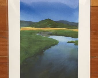 Sierra Valley Watercolor - Giclee Print