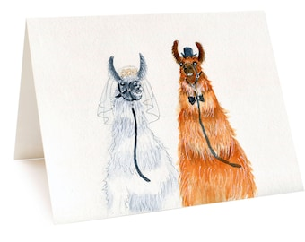 Funny Wedding Card, Funny Alpaca Card, Llama Card, Funny Engagement Card For Bride And Groom, Happy Couples Just Married, Wedding Congrats