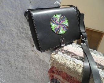 hippie of go shoulder bag with hand-painted Manadala