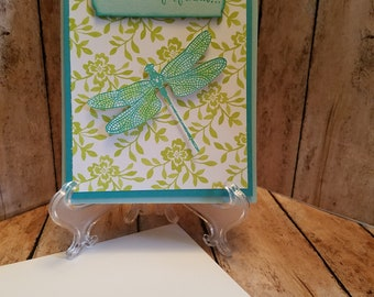 Pop Out Dragon Fly card
