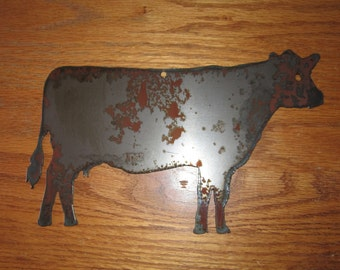 Contented Cow  - Metal art