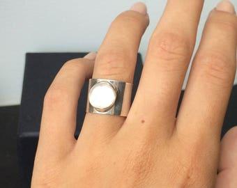 Silver ring 925 Moonstone