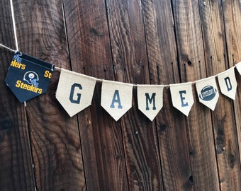 Steelers Game Day Banner, NFL, steelers, pennant, personalized