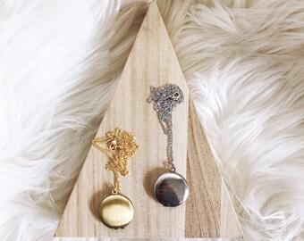 Ready-to-Ship Item // Small Locket Necklace