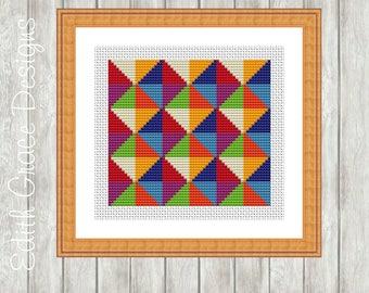 Cross Stitch Pattern - Geometric Art - Modern Cross Stitch Pattern - Counted Cross Stitch Chart - Modern Art - Embroidery Designs - Sampler