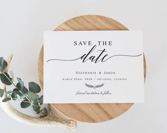 Save the Date Editable Template DIY Shower Template PDF Save the Date Template wedding printable Wedding template Instant Download #WP30