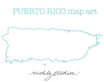 Vector & PNG Puerto Rico map art/clip art, state, country, silhouette
