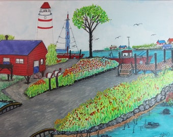 Original Painting The Beach House
