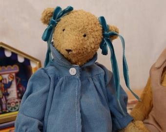 OOAK teddy bear, Diana Barry Bear, Anne of green gables