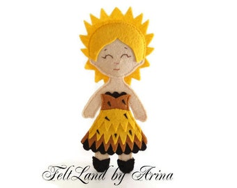 Felt flower Sunflower