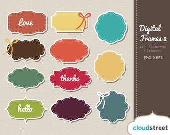 BUY 2 GET 1 FREE Digital Frames Clip Art ( Vector Vintage Frames clipart ) for personal and commercial use
