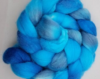 Merino / Tussah Silk 'Sea Nymph' Hand Painted Roving